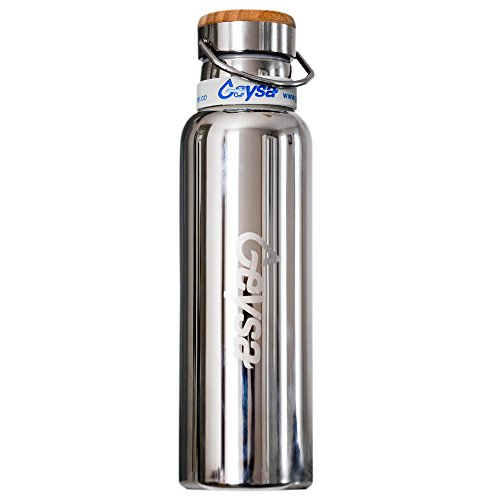 cd62a33569 Geysa Vacuum Insulated Stainless Steel Water Bottle 34oz, Double Walled  Construction, BPA Free, Leak Proof!