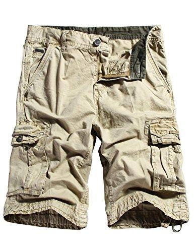 Men's Twill Cargo Shorts 34, Black – StockyShop