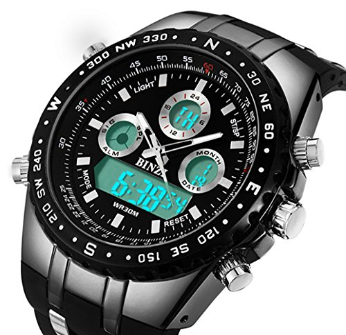 b80f6b2e534 BINZI Big Face Sports Watch for Men