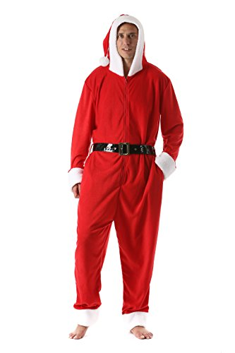followme mens christmas adult onesie microfleece jumpsuit one piece pajamas