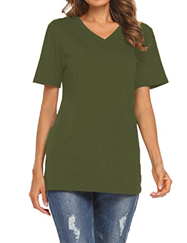 395ce5959a7e Qearal women's basic v-neck plain t-shirts s-xxl Material: Cotton,  Polyester Imported Pull On closure The lightweight fabric is soft and has  some stretch.