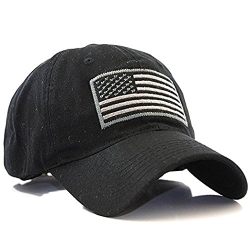 RAPDOM Tactical T76-USA-BLK Embroidered Operator Cap, Black